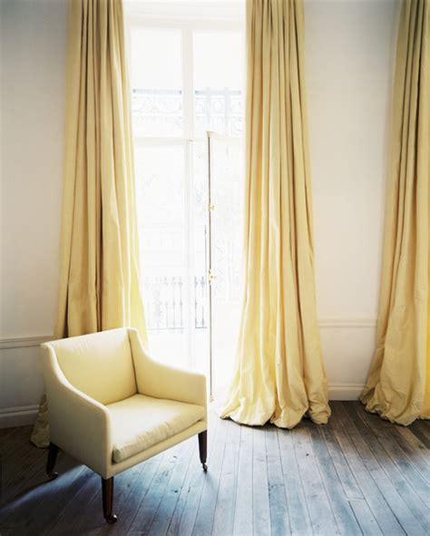 Yellow Drapes Transitional Living Room Lonny Magazine