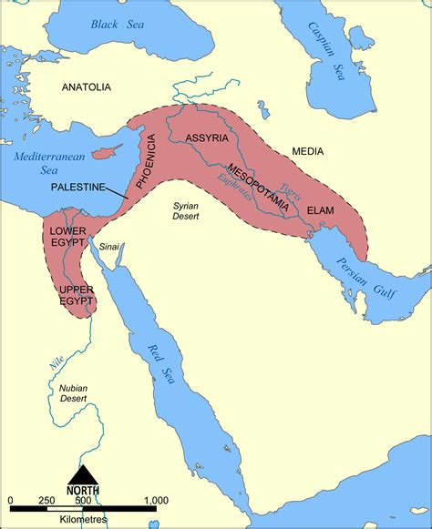 fertile crescent map map of the fertile crescent illustration ancient history encyclopedia