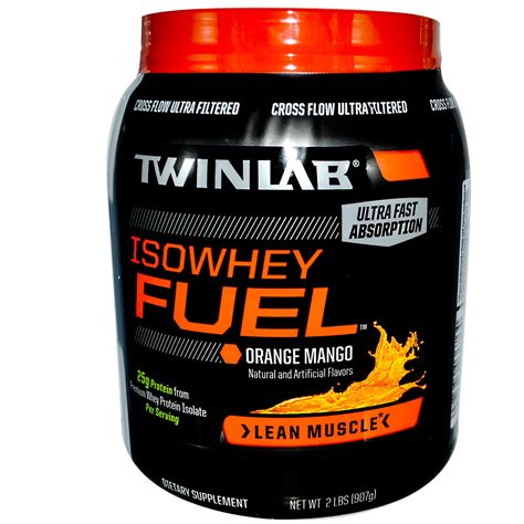 Whey Protein Twinlab twinlab isowhey fuel premium whey protein isolate