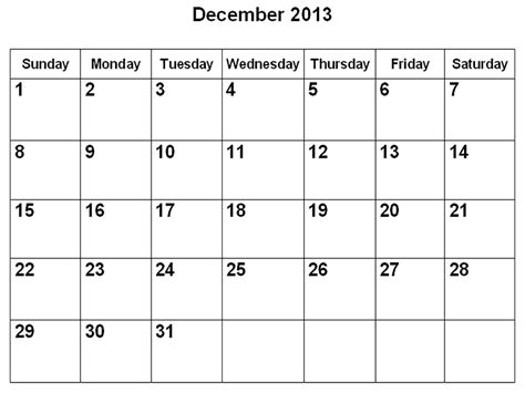 free printable december 2013 calendar with holidays december blank calendar 2013 2015 blank calendar