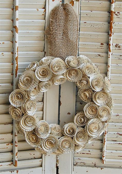 rose themed paper 13 14 book wreath paper rose wreath book theme