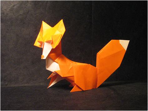 How To Origami Fox - origami fox by lexar on deviantart