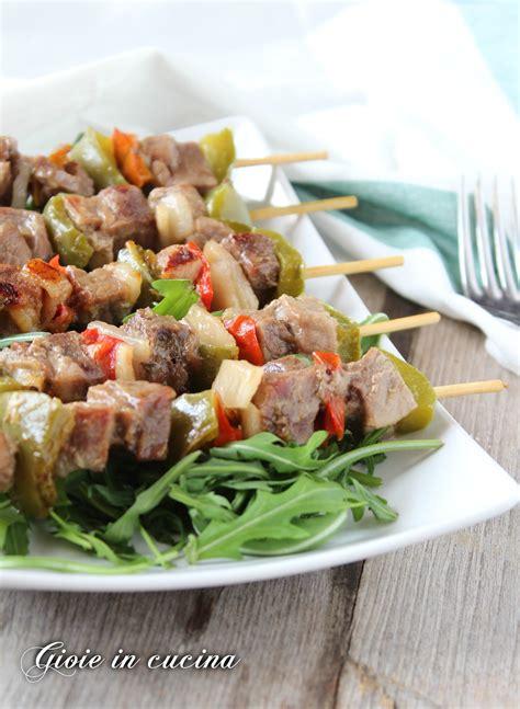 cucinare spiedini di carne spiedini di carne e verdure gioie in cucina