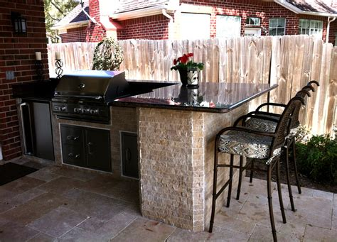 Black Kitchen Island With Stainless Steel Top 37 Outdoor Kitchen Ideas Amp Designs Picture Gallery