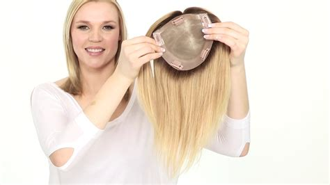 gorgeous strandz offering the best human hair toppers top form by jon renau remy human hair topper youtube