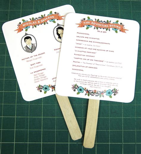 diy wedding program fans diy easy peasy paddle programs weddingbee