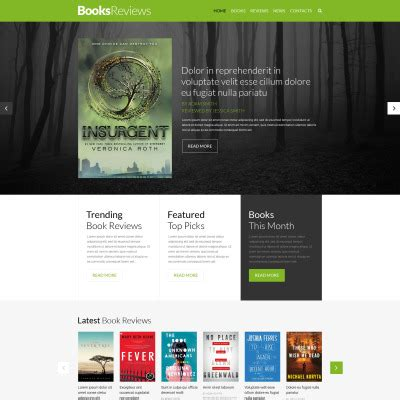 best templates for books websites book reviews templates templatemonster
