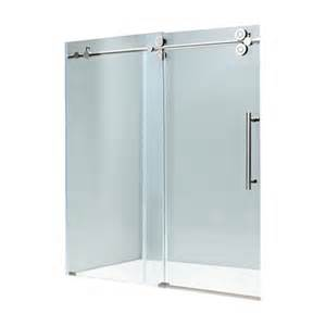 frameless glass tub shower doors vigo industries vg6041 frameless tempered glass sliding