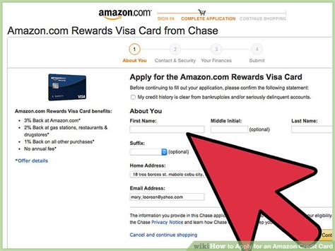 amazon credit card how to apply for an amazon credit card 9 steps with
