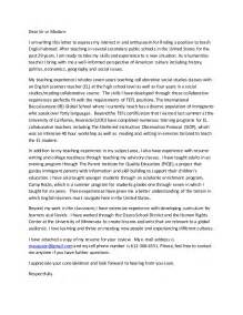 Cover Letter Tefl by Tefl Cover Letter