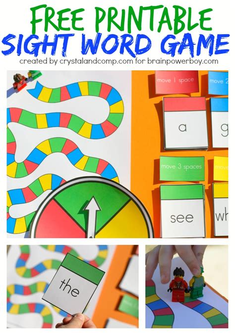 printable sight word board games diy reading and math games for kids