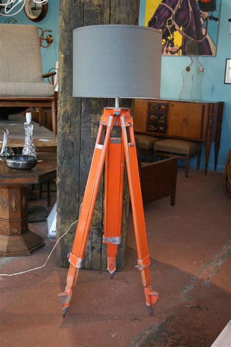 Surveyor Floor L by Pair Of Wood And Aluminum Chicago Surveyor Tripod Floor