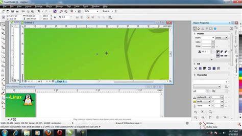cara membuat x banner corel cara membuat banner dan baliho dengan corel draw x6 youtube