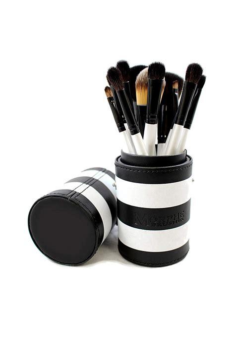 morphe  piece black  white travel brush set set