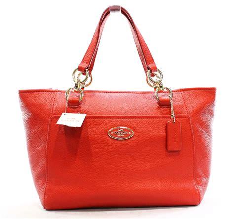 Coach Ellis Tote Bag Authentic Bag Tas Coach coach new mini ellis pebble leather small e w top zip