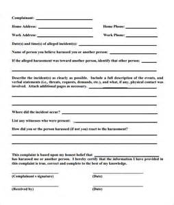 employee complaint template sle employee complaint form template 7 free