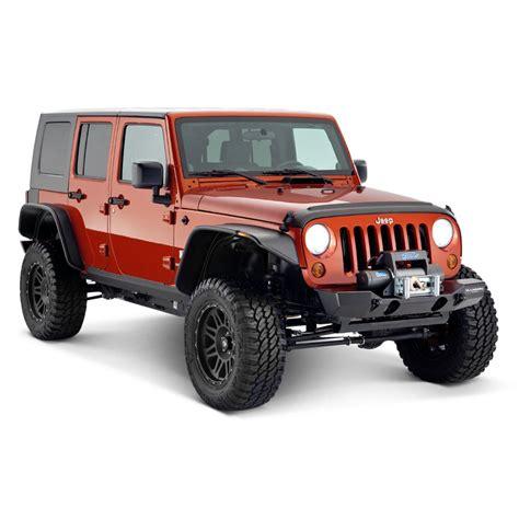 wood panel jeep wrangler bushwacker 174 jeep wrangler 2007 2017 trail armor black