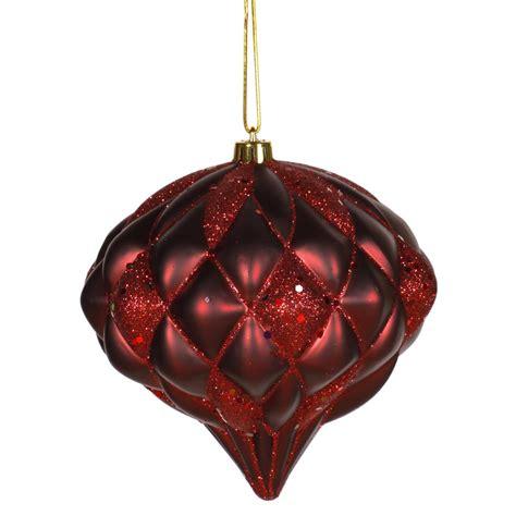 burgendy glittery christmasballs 5 7 inch matte glitter ornament burgundy m112205