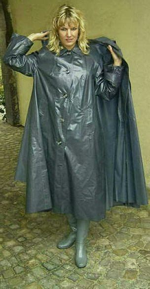 raincoat discipline doubly protected in her klepper mackintosh and cape