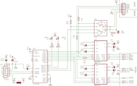 rs485 to rs232 converter schematic pdf rs485 converter