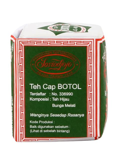 Teh Hijau Bubuk cap botol teh bubuk hijau pck 40g klikindomaret