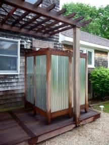 douche de jardin diy douche solaire et douche invers 233 e