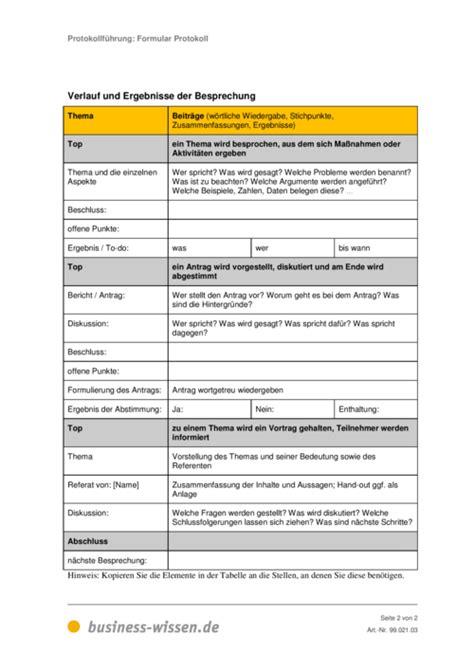 Protokoll Vorlagen Muster Protokoll Vorlage Image Mag