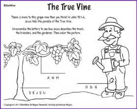 Blind Bartimaeus Bible Study The True Vine Jesus Parables Kids Korner Biblewise