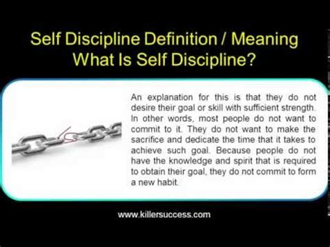What Is The Meaning Of L by Self Discipline Definition Meaning What Is Self