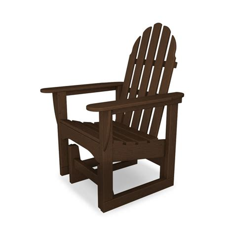 adirondack glider bench polywood adirondack glider chair at diy home center