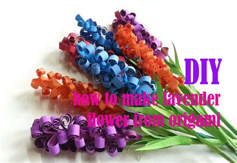cara membuat bunga kertas yg mudah diy cara membuat bunga lavender cantik dari kertas