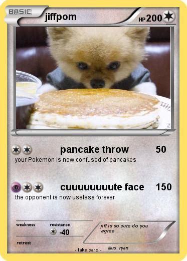 what type of is jiffpom pok 233 mon jiffpom 3 3 pancake throw my card