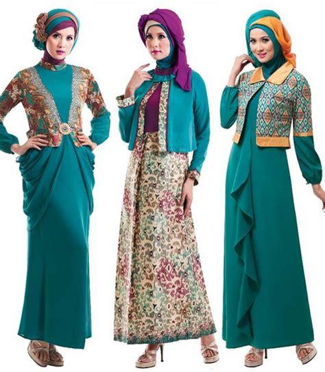 tren pakaian simpel modern rompil hijaber contoh tren baju lebaran muslimah 2016 untuk dewasa