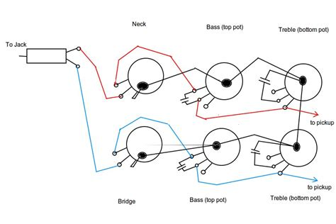 ptb passive treble bass circuit wiring diagram
