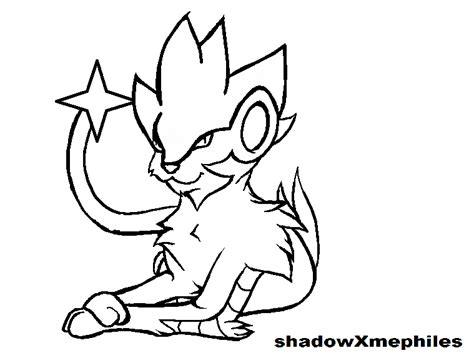 pokemon coloring pages luxray luxray template by shadowxmephiles on deviantart