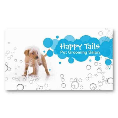 pet grooming business cards templates 1000 images about pet grooming business cards on