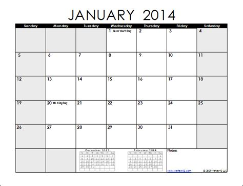 8 best images of monthly planner printable 2014 calendar