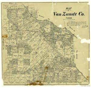 zandt county map map of zandt county the portal to history