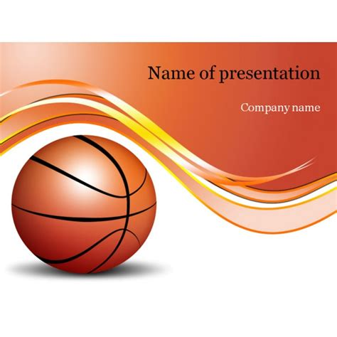 Powerpoint Themes Basketball | basketball game powerpoint template background for