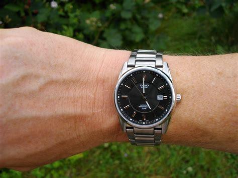Jam Casio Bem 111d Quartz montre quartz casio bem 111d 1avef bracelet en acier