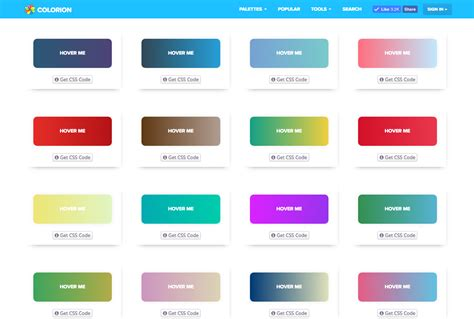 css hover color gradient buttons with hover effects