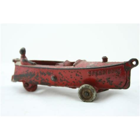william s cast iron speed boat on wheels - Speed Boat With Wheels
