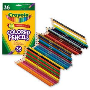 crayola coloring pencils crayola colored pencils 36 pack ebay