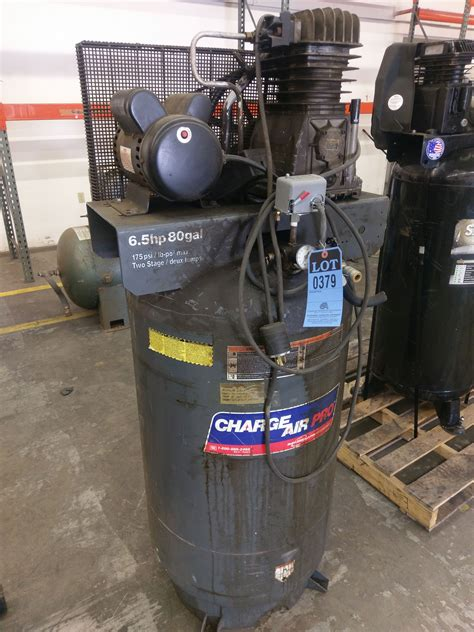 6 5 hp devilbiss quot charge air pro quot 80 gallon vertical air compressor 240 volt single phase loc