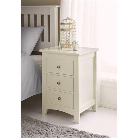 bedside drawers b m carmen 3 drawer bedside cabinet 321896 b m