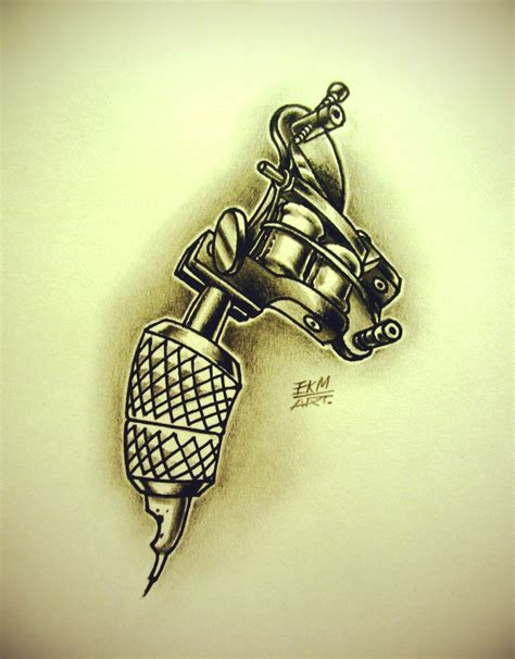 tattoo machine tattoo new school machine drawing www imgkid the