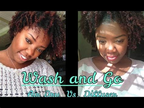 Drying Curly Hair With Cold Air hair tutorial wash and go air vs diffusser bonus style