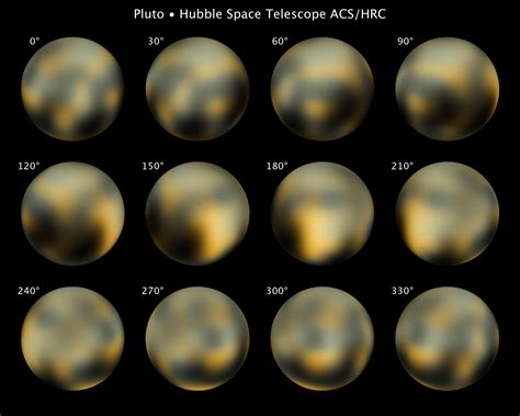 Nasa new hubble maps of pluto show surface changes