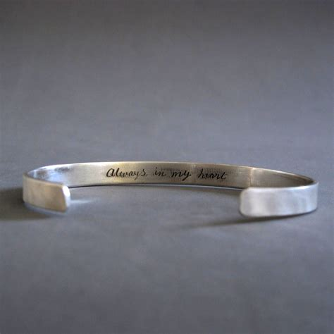 sterling silver personalized mens bracelet engraved silver