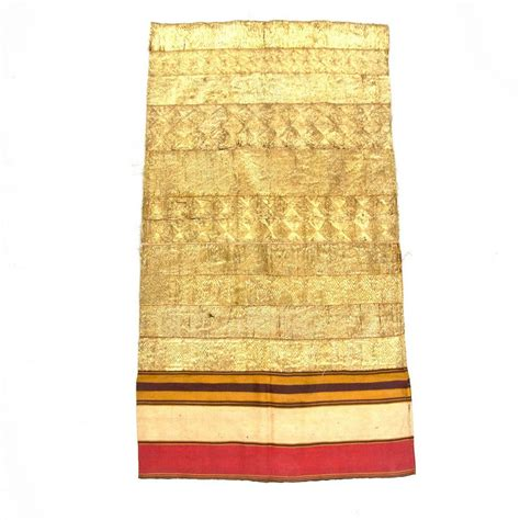 Tapis Abung a islamic silk cotton and gold embroidered ceremonial tapis skirt abung